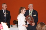 Katie with award